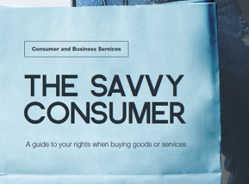 The Savvy Consumer front page