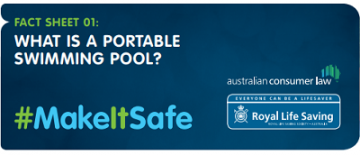 What is a portable swimming pool?