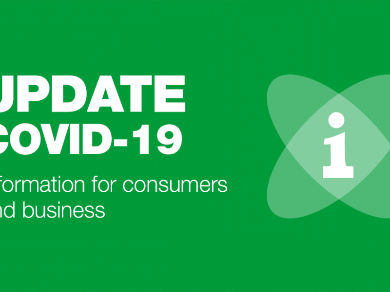 Covid-19 - Information for consumers and business