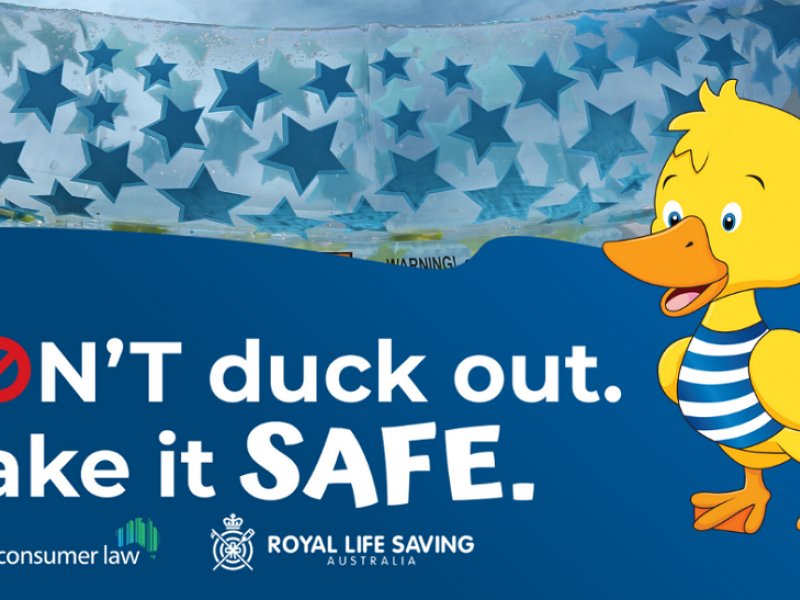 Don't duck out - make it safe